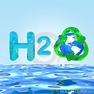 H2O Formula on water Eco Concept