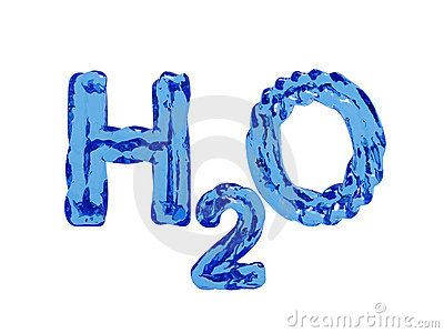 H2O water letters  H2o Formula