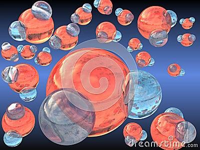 H2O water molecules
