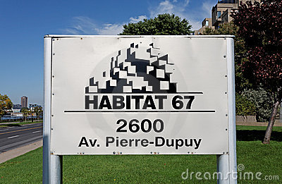 Habitat 67 Editorial Stock Photo