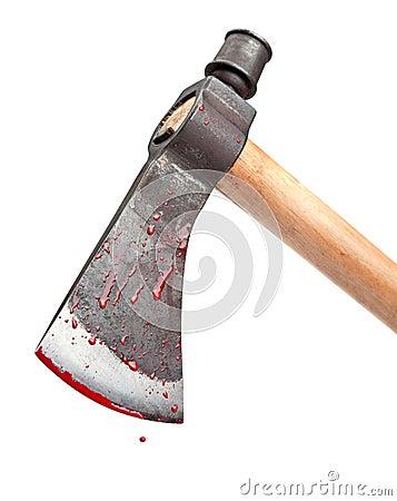 Hacha sangrienta