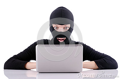 Hacker with computer