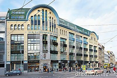 Hackeschen Hofe shopping area in Berlin Editorial Stock Image