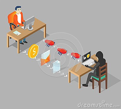 Free Hacking User Concept Vector Isometric Illustration Stock Photo - 116259600