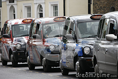 Hackney Carriage, London Taxi Editorial Stock Photo