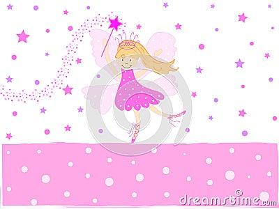 Hada rosada de la estrella