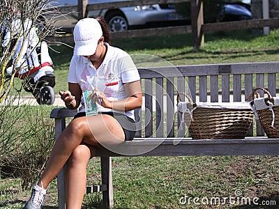 Haddioui (MOR) Dinard golf cup 2011, France Editorial Photography