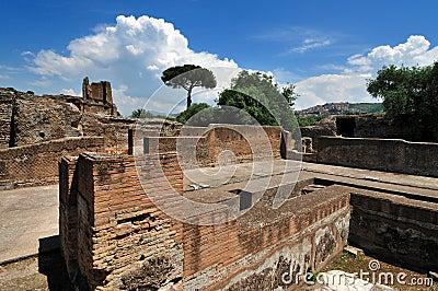 Hadrian βίλα tivoli της Ρώμης