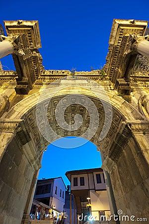 Free Hadrian Door; Antalya Stock Photo - 18930060