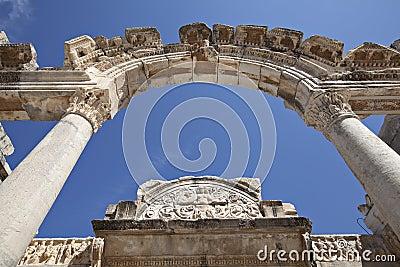 Hadrian的寺庙, Ephesus,伊兹密尔,土耳其