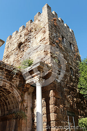 Hadrian Gate in Antalya, Turkey.