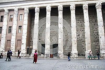 Hadrian pillars Editorial Image