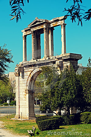 Hadrian`s Arch in Athens