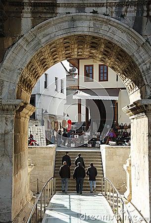 Hadrian s gate Editorial Image