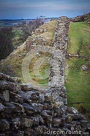 Free Hadrian`s Wall, Northumberland Royalty Free Stock Photography - 84060637