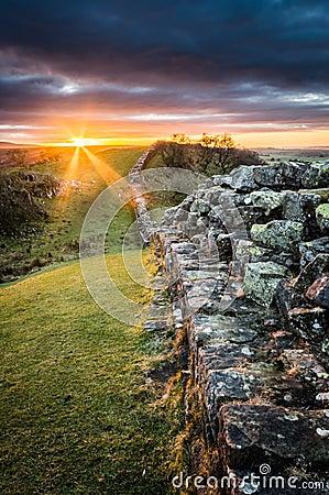 Free Hadrian`s Wall, Northumberland Stock Photos - 84060893