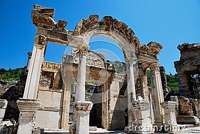 The hadrian temple in Ephesus