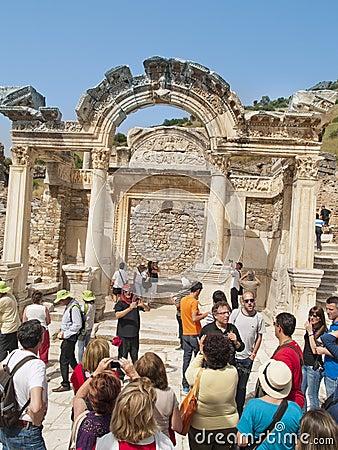 Hadrian Temple, Ephesus, Turkey Editorial Stock Image