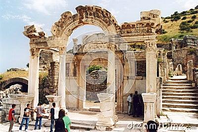 Hadrian temple Editorial Stock Image