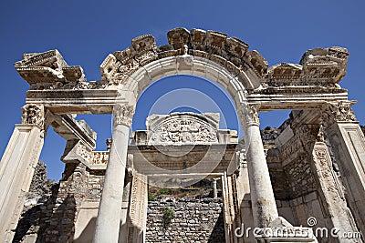 Hadrians Tempel, Ephesus, Izmir, die Türkei