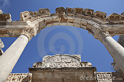 Hadrians tempel, Ephesus, Izmir, Turkiet
