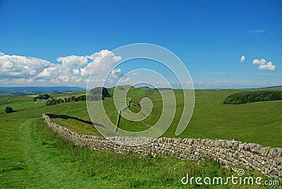 Hadrian wall landscape, England