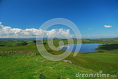 Hadrian wall countryside