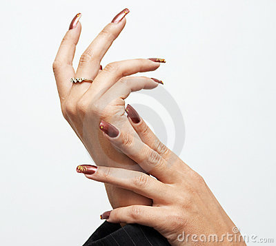 Hads with manicure
