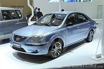 Hafei sedan electric car Editorial Stock Photo