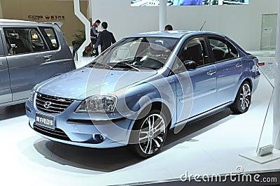 Hafei sedan electric car Editorial Stock Photo