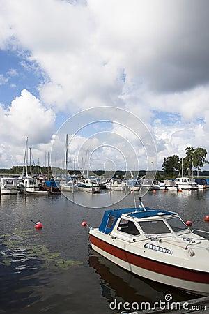 Hafen des kleinen Bootes