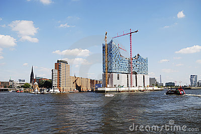Hafencity Hamburg Editorial Stock Photo