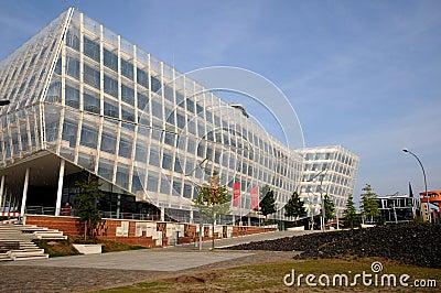 Hafencity Hamburg Redaktionell Arkivbild