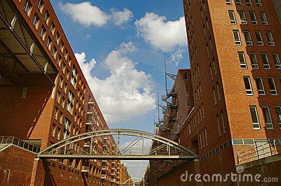 HafenCity, at harbour, Hamburg, Germany