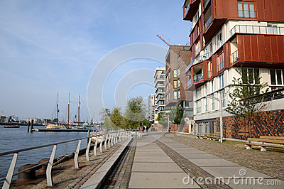 Hafencity in seafront Hamburg Editorial Stock Photo