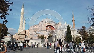 Hagia Sophia Ayasofya Museum in Sultanahmet Square. stock footage