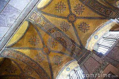 Hagia Sophia in Istanbul, Turkey / ancient mosaics