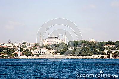 Hagia Sophia mosque from the sea