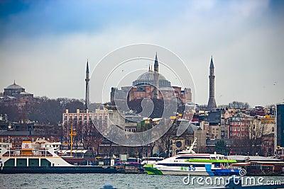 Hagia Sophia sea view Editorial Stock Photo