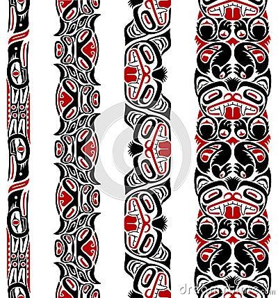 Free Haida Style Seamless Pattern Stock Photos - 19670973