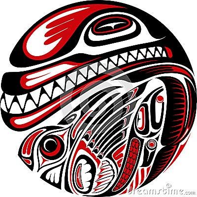 Free Haida Style Tattoo Design Stock Photography - 28131742