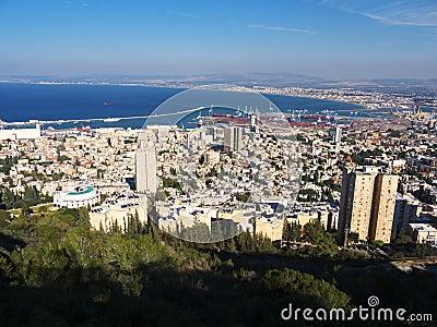 Haifa view from Mount Carmel