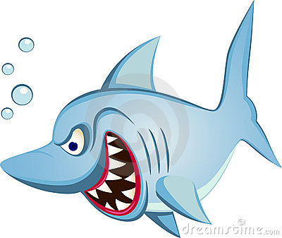 Haifischkarikatur