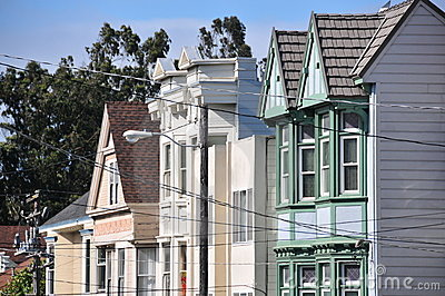 Haight Asbury  houses in San Francisco