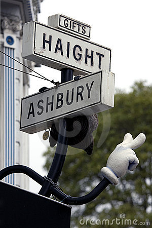 Haight street symbol in San Francisco