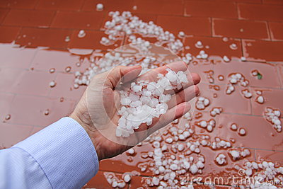 Hailstones on hand.