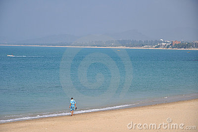 Hainan heavenly beach Editorial Stock Photo