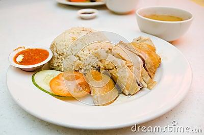 Hainanese Style Chicken Rice