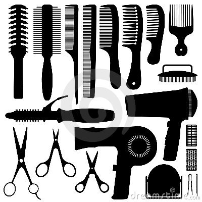 Free Hair Accessories Silhouette Vector Royalty Free Stock Image - 15003376