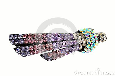Hair accessory hairpin with crystal